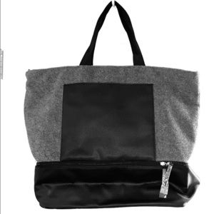 New Tote with Zip Top and Separate Shoe Section